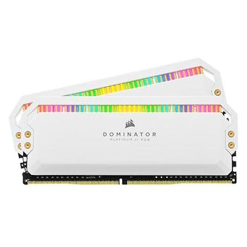 CORSAIR DDR4 16G PC4-28800 CL18 Dominator Platinum RGB WHITE (8Gx2)