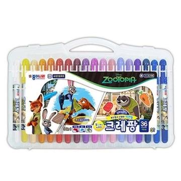 디즈니 주토피아 크레팡 색연필(36색)