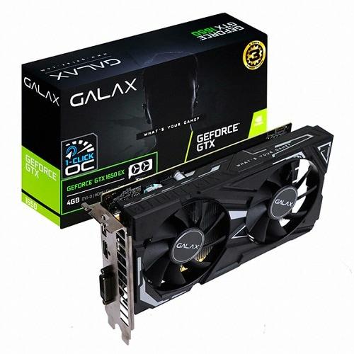 갤럭시 GALAX 지포스 GTX 1650 BLACK EX D6 4GB_이미지