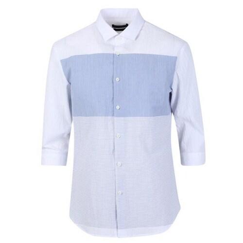 신성통상 지오지아 서커 블럭 7부 캐쥬얼 셔츠 AAY2WC1113BL_이미지