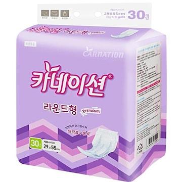 신우피앤씨 카네이션 라운드형 패드 프리미엄 30개(8팩(240개))
