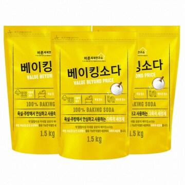 바른세제연구소 베이킹소다 1.5kg(3개)