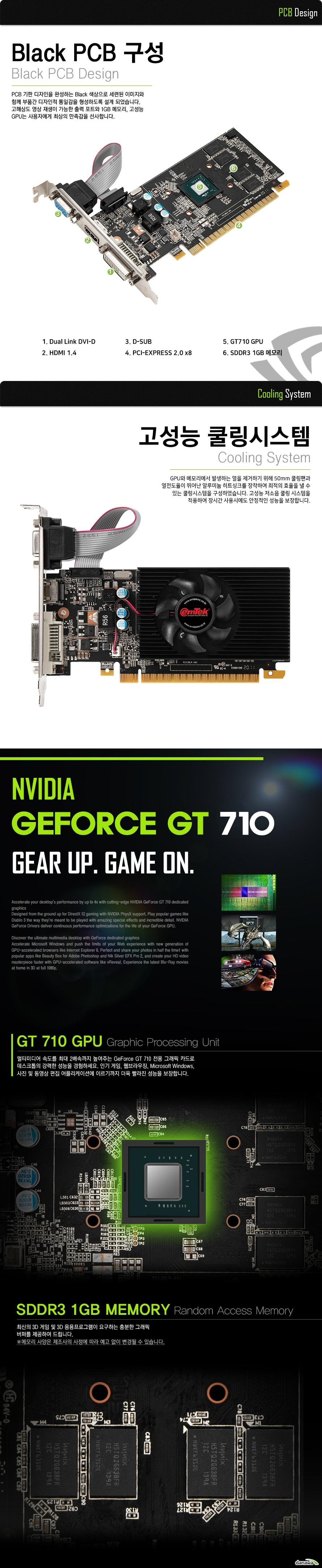 이엠텍 지포스 GT710 D3 1GB LP
