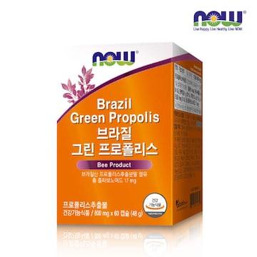 나우푸드 브라질 그린 프로폴리스 60캡슐
