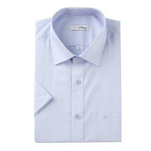 에스티듀퐁  반소매 배색 포인트 셔츠 SD8MM12HS701SBU_이미지