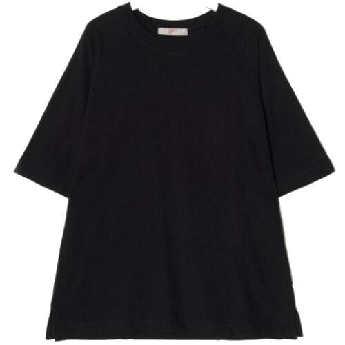 삼성물산 에잇세컨즈 남성 블랙 코튼 솔리드 5부 티셔츠 269342C115_이미지