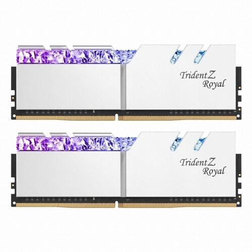 G.SKILL DDR4 16G PC4-25600 CL14 TRIDENT Z ROYAL 실버 (8Gx2)_이미지