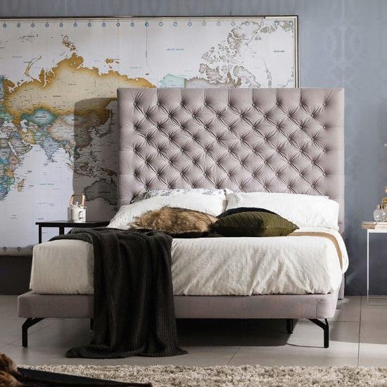 웨스트프롬 럭셔리 그레이스 그레이 패브릭 TWO 매트리스 침대 퀸 (Q) (S5)_이미지