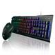 MAXTILL GMK310 레인보우 LED 키보드 마우스 세트_이미지