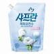 LG생활건강 샤프란 목화유연수 순한 산들바람 리필 1.8L (2개)_이미지