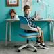 생활지음 제미니 중심봉고정형 학생 의자 (발받침별도)_이미지