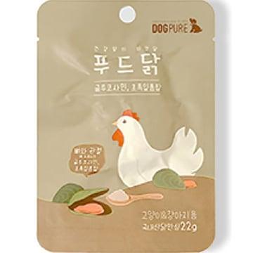 도그퓨어 푸드닭 통살간식 초록입홍합&글루코사민 22g (1개)_이미지