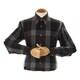 지엠아이 밴브루 체크 버튼다운 브라운 슬림 셔츠 BGFSL0116BW_이미지