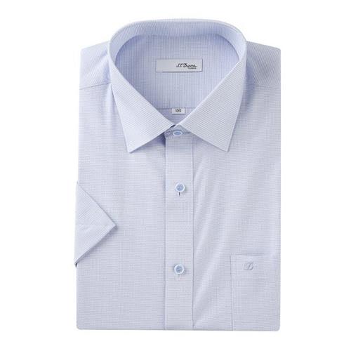 에스티듀퐁  자가드 패턴 반소매 비지니스 셔츠 SD8MM12HS710SBU_이미지