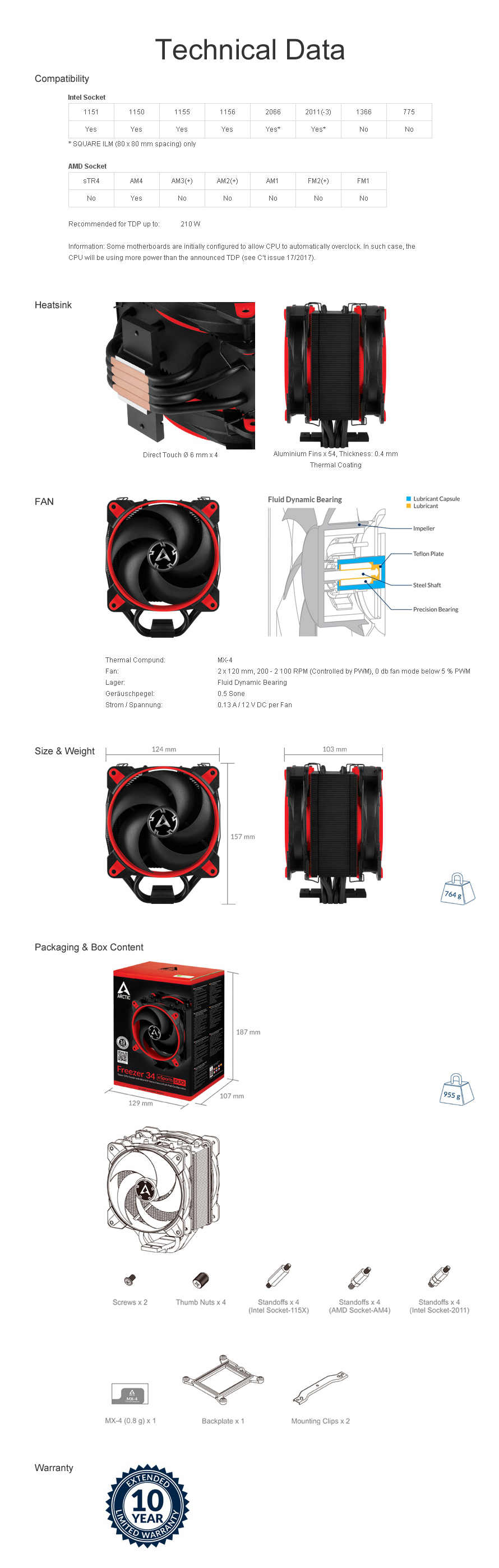 ARCTIC  Freezer 34 eSports DUO(RED)