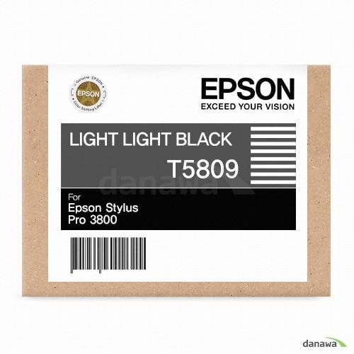 Epson  정품 T5809 (T580900) 더밝은검정 (1개)_이미지