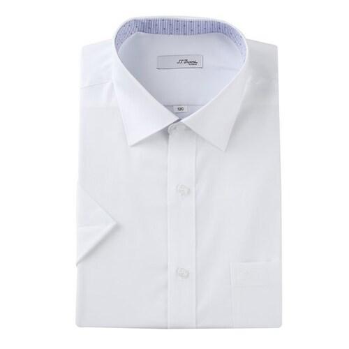 에스티듀퐁  화이트 솔리드 비지니스 반소매 셔츠 SD8MM12HS701SWH_이미지
