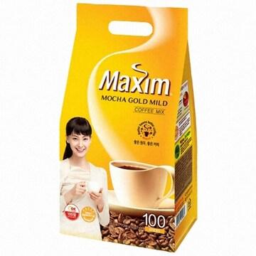 동서식품 맥심 모카골드 마일드 커피믹스 스틱 100T (비닐팩)