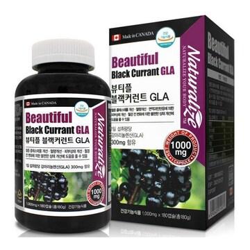 네추럴라이즈 뷰티플 블랙커런트 GLA 180캡슐(1개)