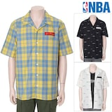 MK트렌드 엔비에이(NBA) 남성 패턴 반팔 셔츠 N172SH321P_이미지