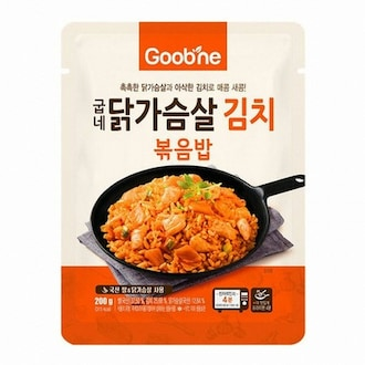 지앤몰 굽네 닭가슴살 김치 볶음밥 200g (1개)_이미지