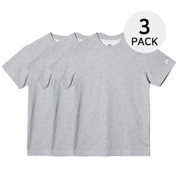 뉴에라 남녀공용 무지 에센셜 반팔 티셔츠 3팩 그레이 11929736