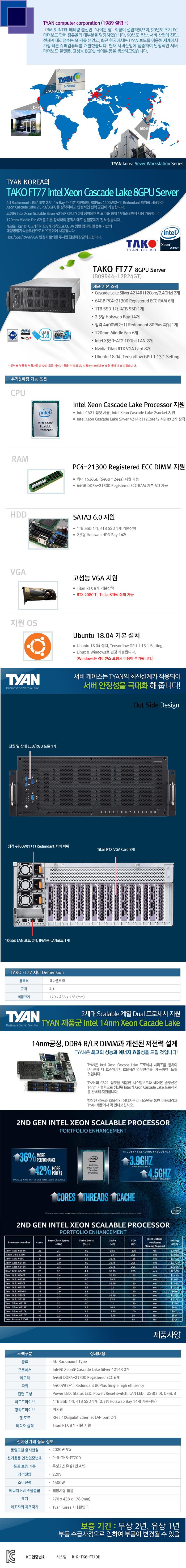TYAN TAKO-FT77-(B09R44-12R24GT) (384GB, SSD 5TB)