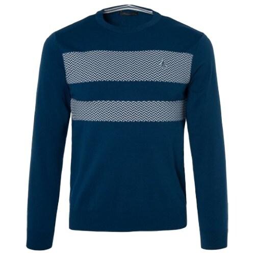 빈폴골프 지그재그 라운드 스웨터 BJ9151B02P_이미지