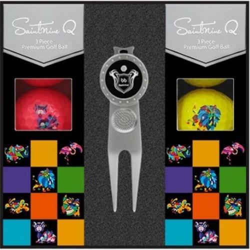 세인트나인 Q 골프공(컬러공, 6개+그린보수기)