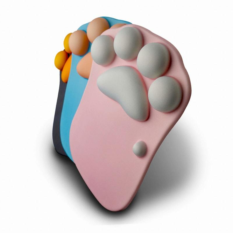 지클릭커 G-TRACTER MG-02 고양이발 젤 마우스패드 (핑크)