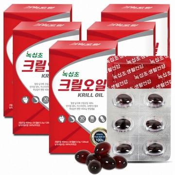 녹십초생활건강  녹십초 크릴오일 30캡슐 (5개)