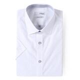 에스티듀퐁  반소매 슬림 도트 배색 포인트 단추 셔츠 SD8MM956WH_이미지