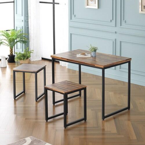 까로네까사 로니 데이션 식탁세트 1000 (의자2개)_이미지