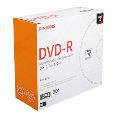 LKG  FOR LG DVD-R 4.7GB 16x 슬림 (10장)_이미지