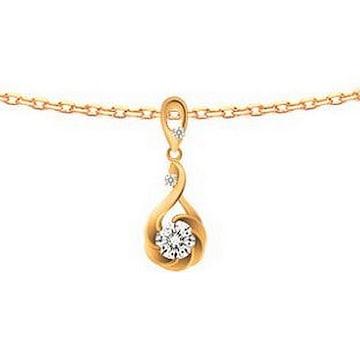 브리앙 18K 플로라 0.5캐럿 다이아몬드 목걸이