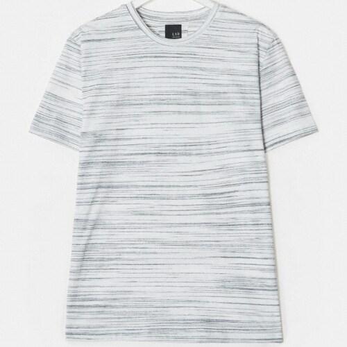 빨질레리 남성 크루넥 스트라이프 티셔츠 PC9342ST21_이미지