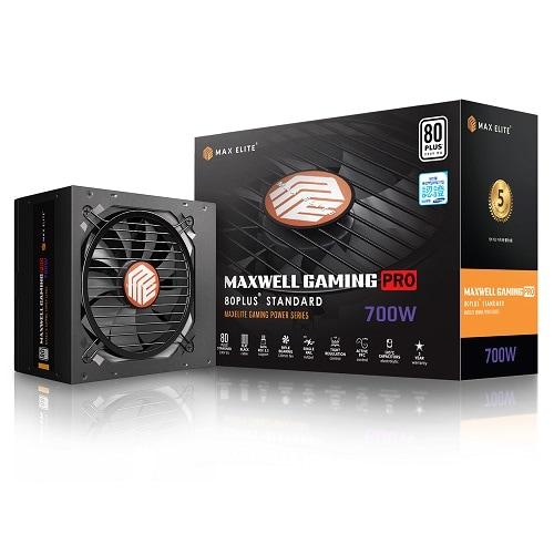맥스엘리트 MAXWELL GAMING PRO 700W 80PLUS STANDARD 플랫_이미지