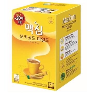 동서식품 맥심 모카골드 마일드 커피믹스 스틱 170T