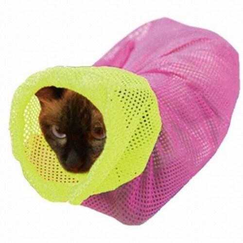 Aduck(어덕) 어덕 고양이 멀티목욕망 (핑크)_이미지