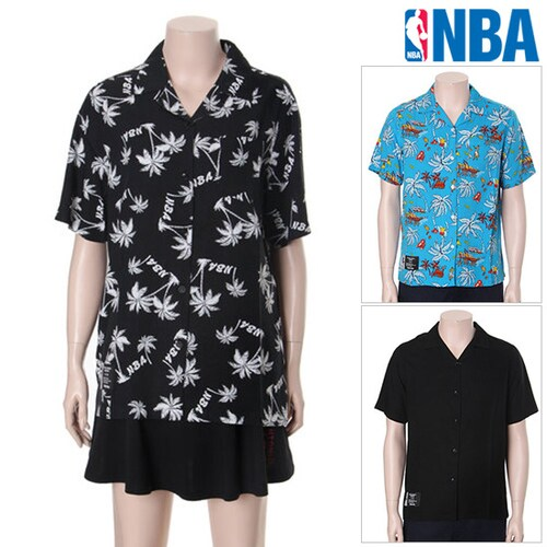 한세엠케이 엔비에이(NBA) 남여공용 카바나 셔츠 N172SH131P_이미지