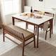 보니애가구 블랑코 통세라믹 원목 프레임 식탁세트 1200 (의자2개+벤치1개)_이미지