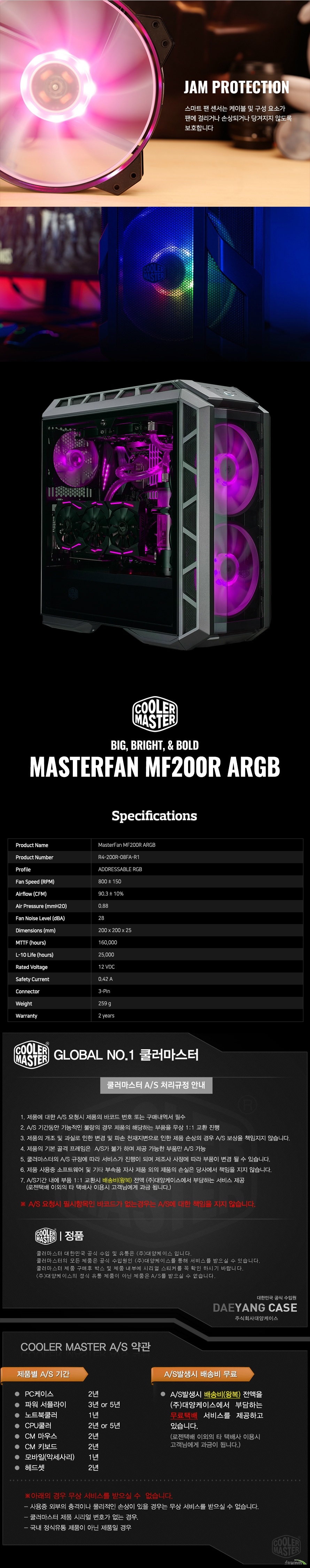 쿨러마스터  MASTERFAN MF200R ARGB