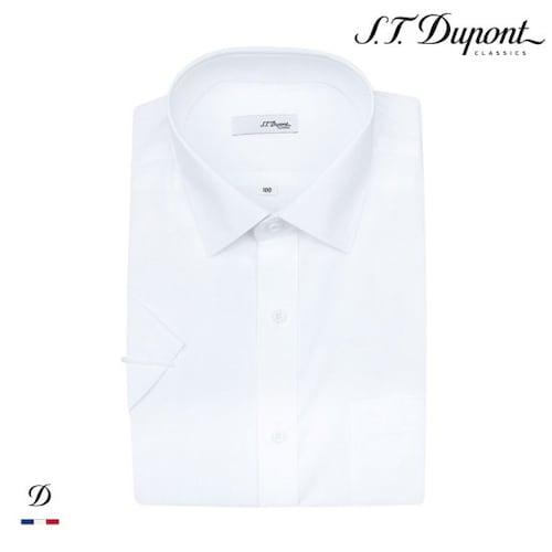 에스티듀퐁  화이트 도비 일반핏 반소매 셔츠 SD8MM12HS703SWH_이미지
