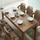 잉글랜더 아모스 고무나무 원목 식탁세트 1850 (의자6개)_이미지
