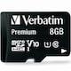 버바팀  micro SDHC CLASS10 UHS-I Premium V10 80MB/s (해외구매,8GB)_이미지