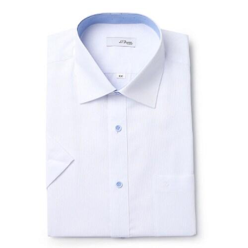 에스티듀퐁  사각 립 도비 일반핏 반소매 셔츠 SD7MM12HS726SWH_이미지