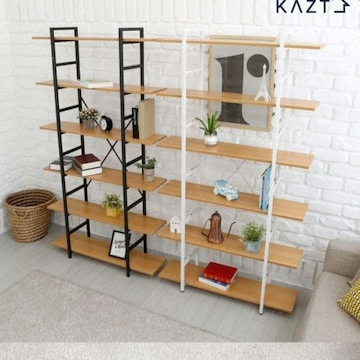 가쯔  로이드 6단 와이드 철재 책장 (100cm)