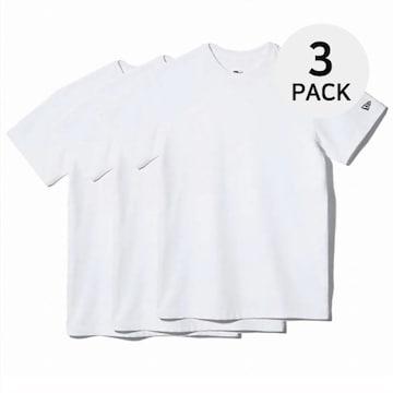 뉴에라 남녀공용 무지 에센셜 반팔 티셔츠 3팩 화이트 11929734