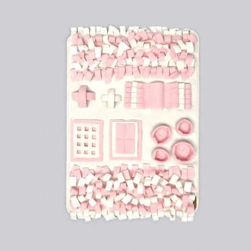 까르페티앙 노즈워크 담요 핑크(95x70cm)