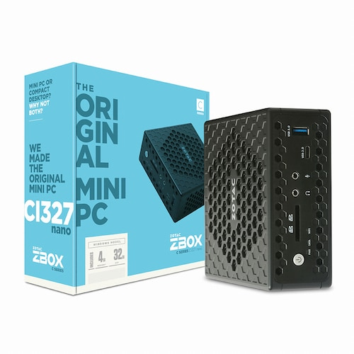 ZOTAC  ZBOX nano CI327 with Win10 (4GB, M2 32GB)_이미지